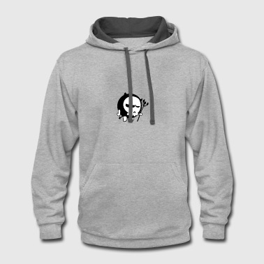 Trident monster with trident - Contrast Hoodie