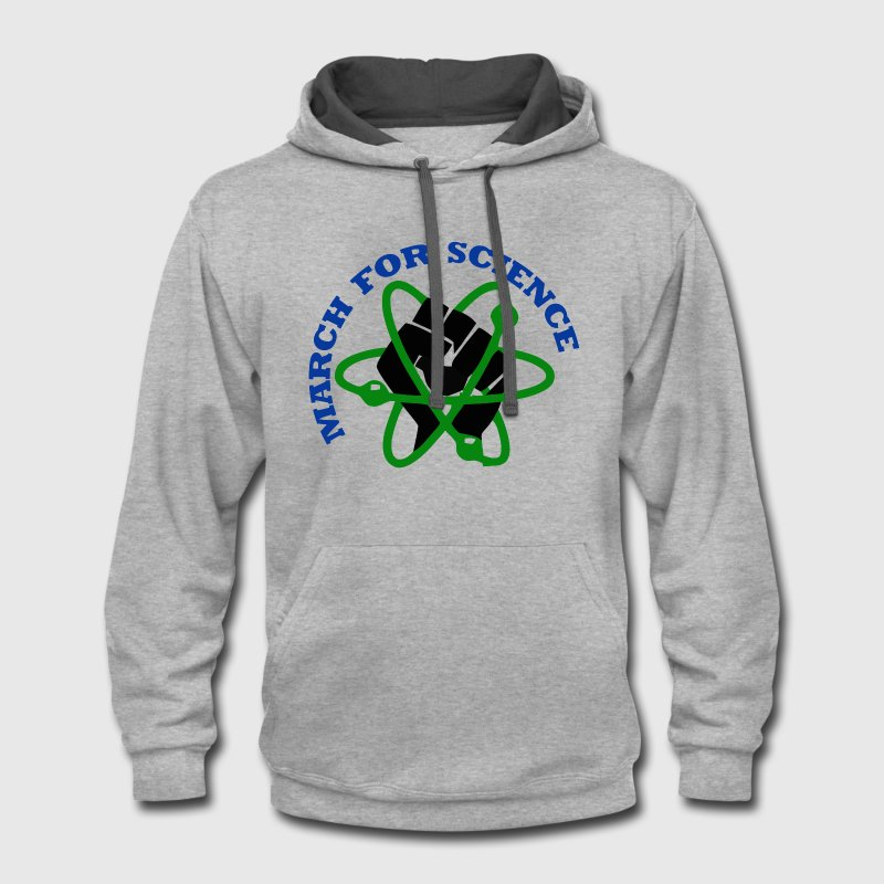 March for Science. - Contrast Hoodie