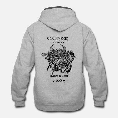 Odin Odin and his ravens - Contrast Hoodie