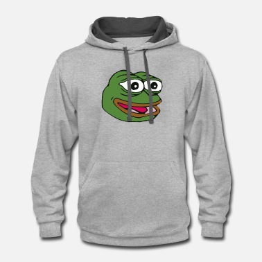 Meme War pepe the forg kek meme - Unisex Two-Tone Hoodie