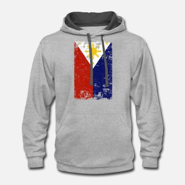Filipino Filipino Vintage Distressed Philippines Flag - Contrast Hoodie