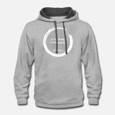 Dj &amp Health Fitness amp Body Quote - Unisex Two-Tone Hoodie