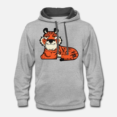 Cute Tiger Cute Tiger - Unisex Two-Tone Hoodie