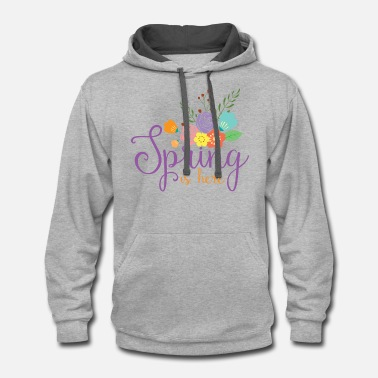 Spring Spring is here - Unisex Two-Tone Hoodie