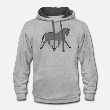 Trotter Coco the trotter - Unisex Two-Tone Hoodie