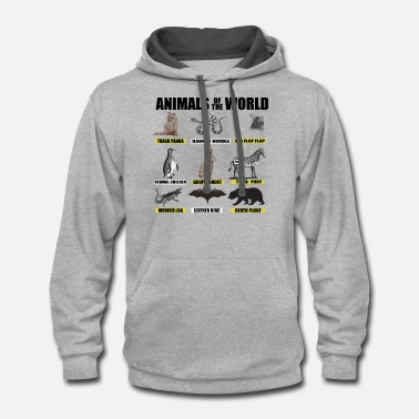 Animal World Animals of the world - Unisex Two-Tone Hoodie