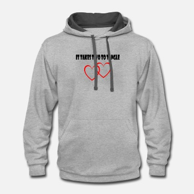 Tommy love heart husband and wife t shirt - Unisex Two-Tone Hoodie