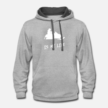 Mobile snow mobile is my life - Unisex Two-Tone Hoodie