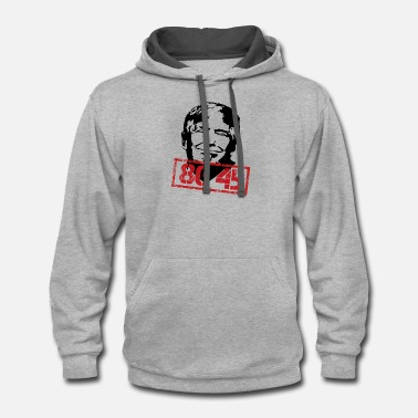 Evil Anti Trump USA President Clown Stamp Gift 45 - Unisex Two-Tone Hoodie