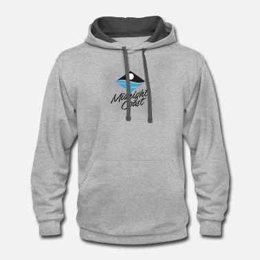 Midnight Coast Logo - Unisex Two-Tone Hoodie