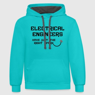 Electrical Engineer Right Spark - Contrast Hoodie