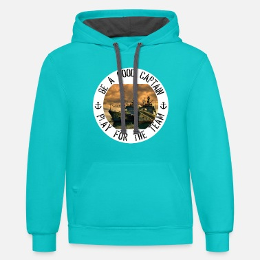 Rounders Frigates on the wharf for players of sea battles - Contrast Hoodie