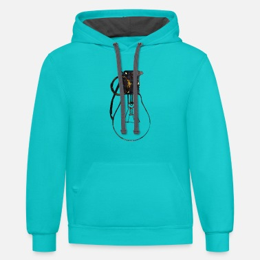 Glowing  Lightbulb and grenade - ideas stronger than weapo - Contrast Hoodie