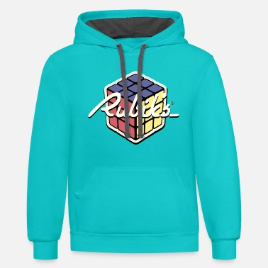 Cube Rubik's Cube Retro Style - Contrast Hoodie