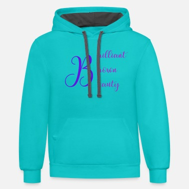 Brown Brilliant Brown Beauty - Unisex Two-Tone Hoodie