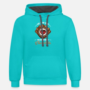 Without Chocolate - life ist too short to live without - Unisex Two-Tone Hoodie
