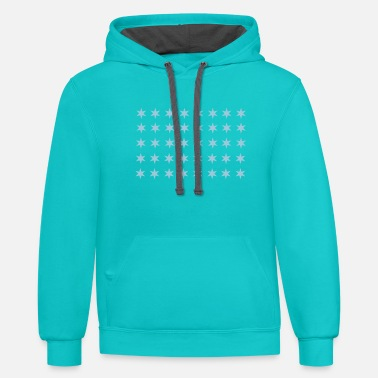 Pattern Star pattern in rectangle - Unisex Two-Tone Hoodie