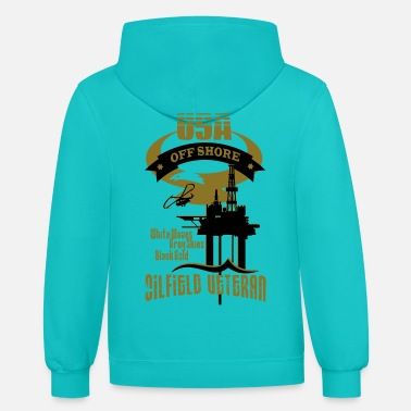 Oil USA Oilfield Veteran - Unisex Two-Tone Hoodie