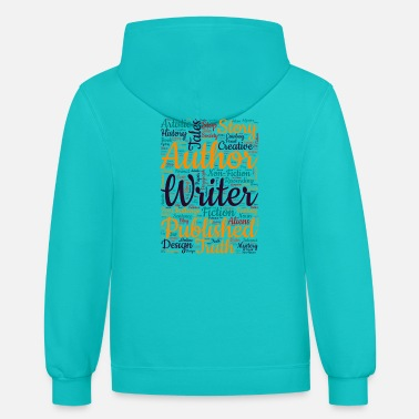 Published author writer word art - Unisex Two-Tone Hoodie