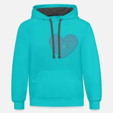 Cuore spunta dal cuore - Unisex Two-Tone Hoodie