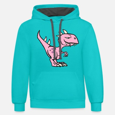 Comic Style Comic style Dinosaur - Unisex Two-Tone Hoodie