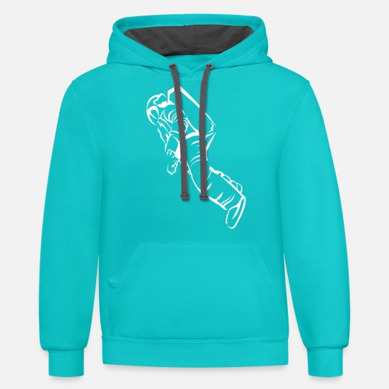 Spaceman Hoodies & Sweatshirts - Spaceman - Unisex Two-Tone Hoodie scuba blue/asphalt