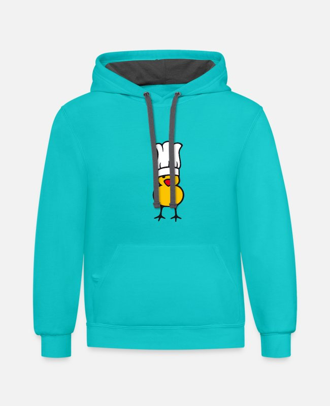 Cuisine Hoodies & Sweatshirts - Little Chef - Unisex Two-Tone Hoodie scuba blue/asphalt
