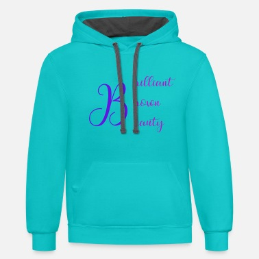 Brilliant Brilliant Brown Beauty - Unisex Two-Tone Hoodie