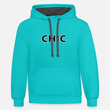 Chic CHIC - Unisex Two-Tone Hoodie