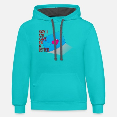 Lettering letter - Unisex Two-Tone Hoodie