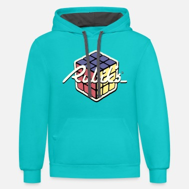 Cubing Rubik's Cube Retro Style - Unisex Two-Tone Hoodie