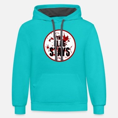 The Flag Stays - Unisex Two-Tone Hoodie