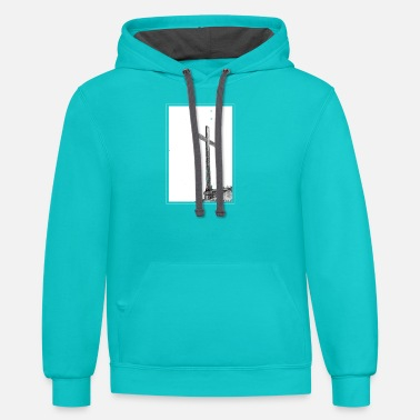 Jesus Cross | Summit Cross |Religious T-Shirt - Unisex Two-Tone Hoodie