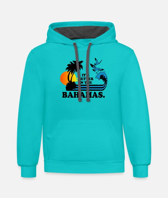 Heart Hoodies & Sweatshirts - Bahams - It's better in the bahamas cool t-shirt - Unisex Two-Tone Hoodie scuba blue/asphalt