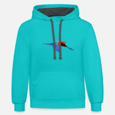 Ara Parrot Shirt gift bird nature animal nectar - Unisex Two-Tone Hoodie