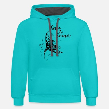 Save Save the Ocean Manta - Unisex Two-Tone Hoodie