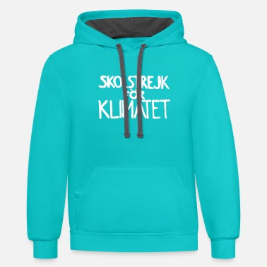 Im With Greeta skolstrejk For klimatet - Unisex Two-Tone Hoodie