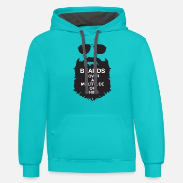 My Beard's Got it Covered. - Unisex Two-Tone Hoodie