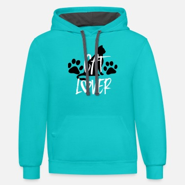 Cat Cat Lover - Unisex Two-Tone Hoodie