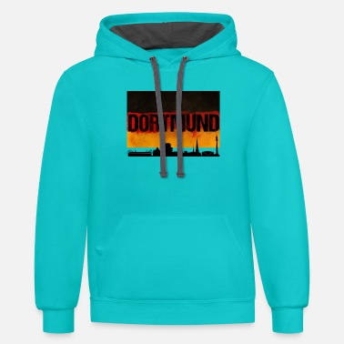 Dortmund Dortmund Germany City Skyline Distressed Flag - Unisex Two-Tone Hoodie