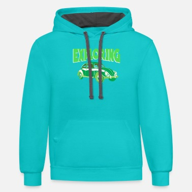 Sportscar Exploring the world with your car - Unisex Two-Tone Hoodie