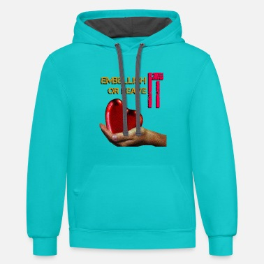 Heart offered - Unisex Two-Tone Hoodie