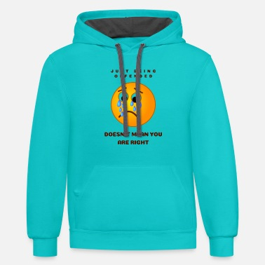 Offender Offended - Unisex Two-Tone Hoodie