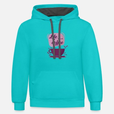 Life is better with coffee - Unisex Two-Tone Hoodie