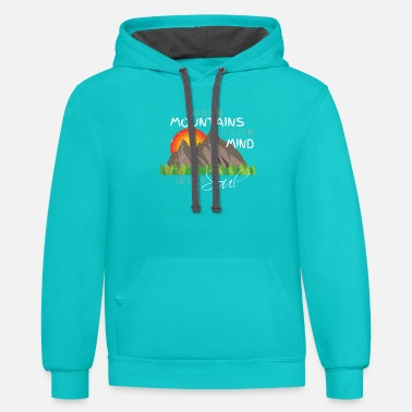 Mountain Climbing Lose My Mind and Find My Soul Nature Hiking Tshirt - Unisex Two-Tone Hoodie