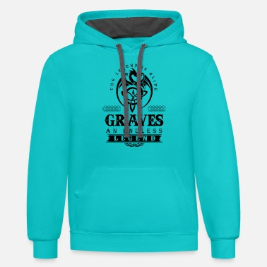 Grave GRAVES - Unisex Two-Tone Hoodie