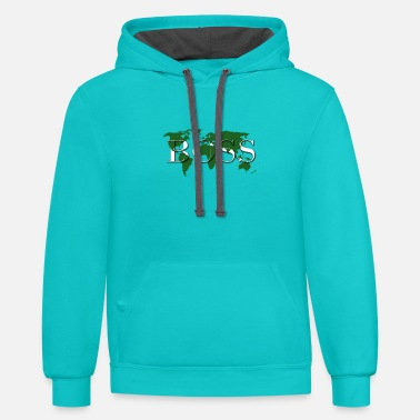 World Boss Premium Design - Unisex Two-Tone Hoodie