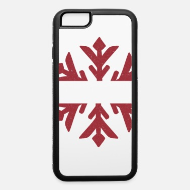 Fishing Latvia Flag Winter Snowflake Design - iPhone 6/6s Rubber Case