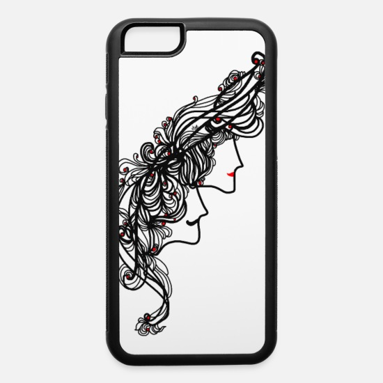 Renaissance iPhone Cases - Love Story of Man and Woman - iPhone 6 Case white/black
