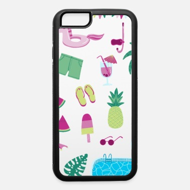 Flamingo Popsicle Swimming Pool Party - iPhone 6 Case